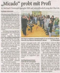 Probentag mit Christoph Spengler (WGA 07.12.2015)
